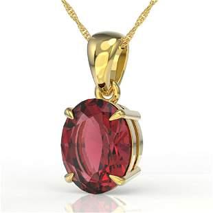 3 ctw Pink Tourmaline Designer Necklace 18k Yellow Gold