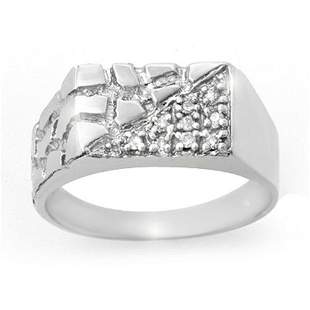 0.15 ctw Certified VS/SI Diamond Men's Ring 18k White