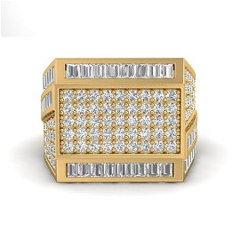 3 ctw VS/SI Diamond Men's Ring 14k Yellow Gold -