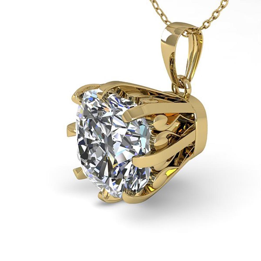 1 ctw Certified VS/SI Cushion Diamond Necklace Vintage