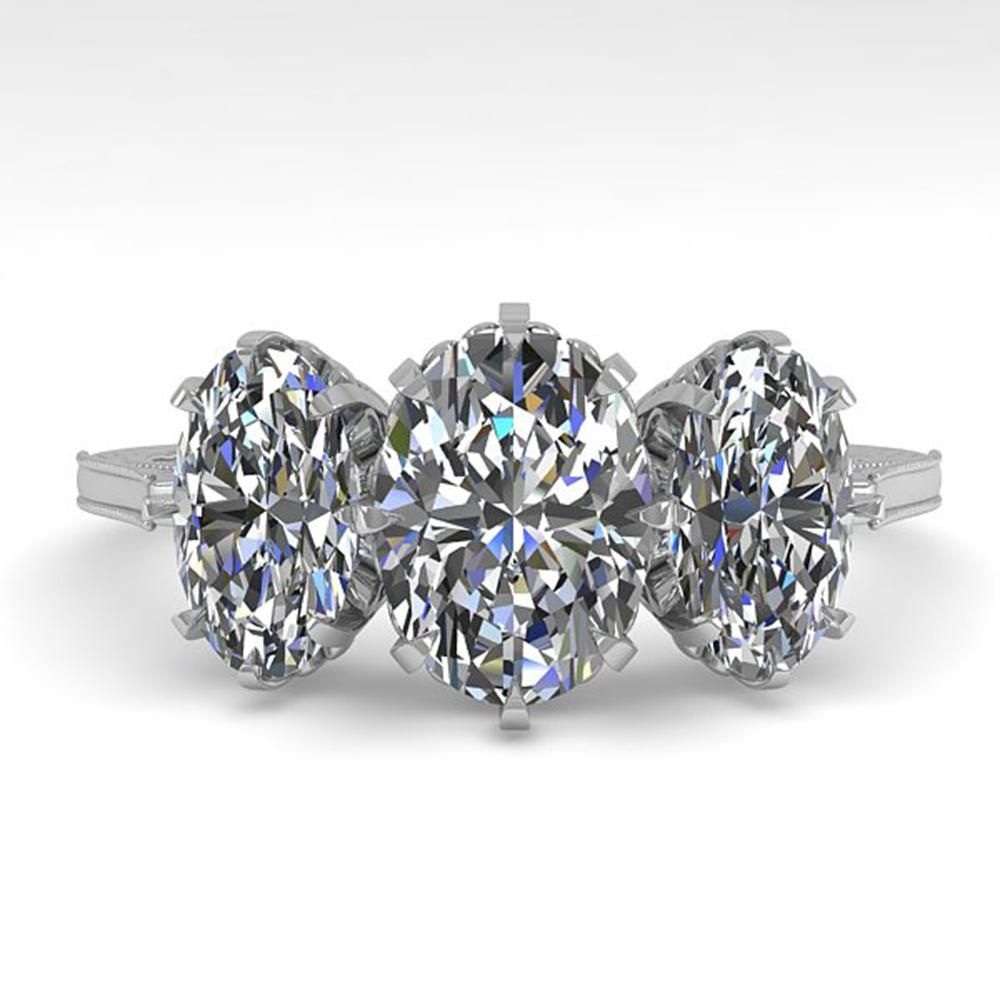 2 ctw Solitaire VS/SI Oval Cut Diamond Vintage Ring 14k