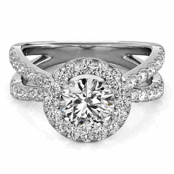 1.51 ctw Certified VS/SI Diamond Halo Ring 14k White