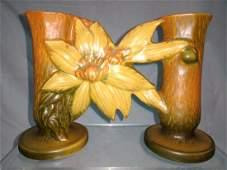 Roseville Clematis Gate Double Bud Vase