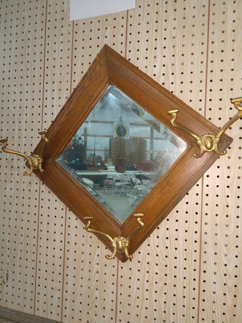 Mirror w hooks - 2