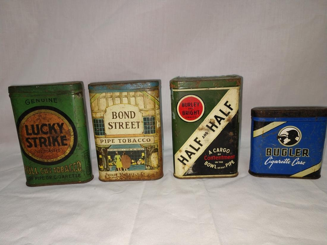 Tobacciana - Tobacco Tin Group of 4
