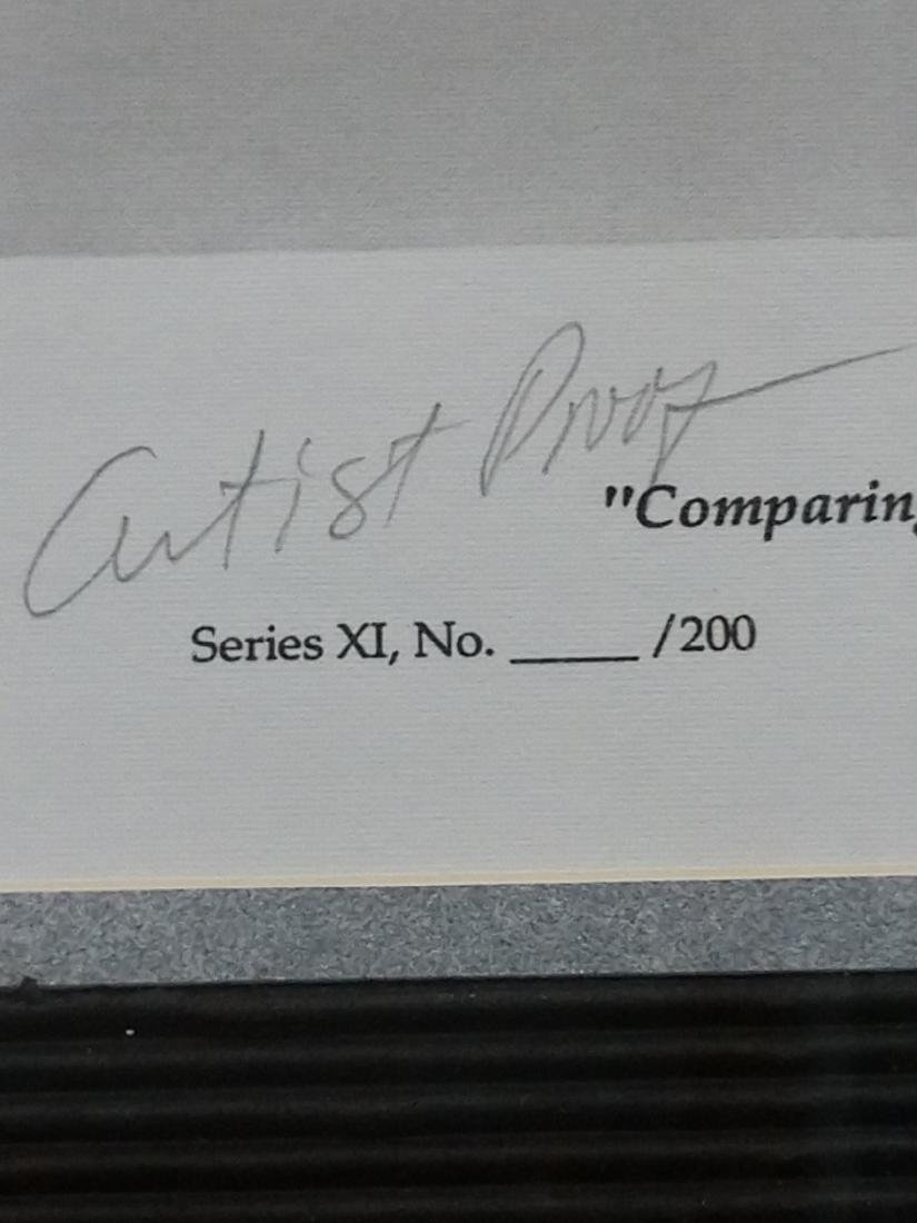 "Artist Proof ""Comparing Notes"" Signed by Artist - 4"