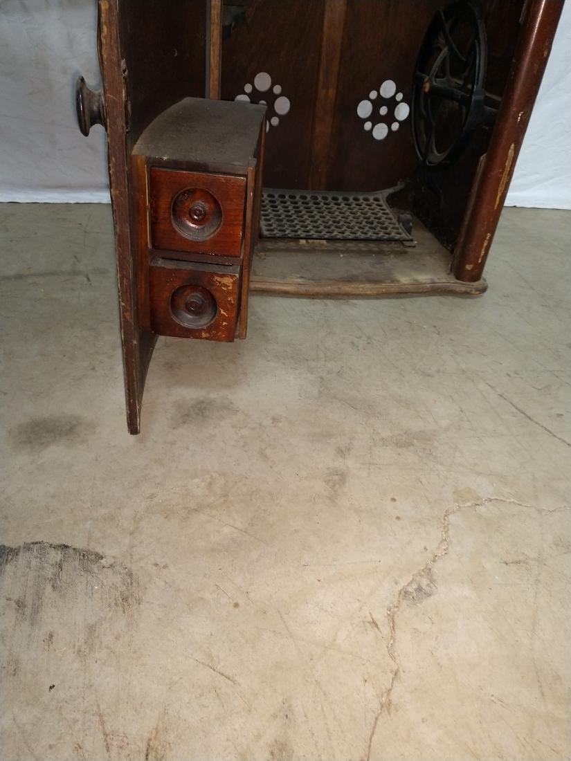 White Rotary Sewing Machine & Cabinet - 5