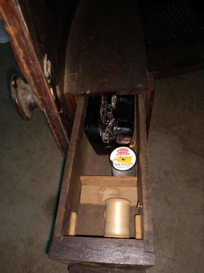 White Rotary Sewing Machine & Cabinet - 7