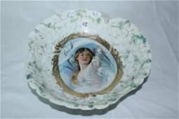 Porcelien Portrait Bowl