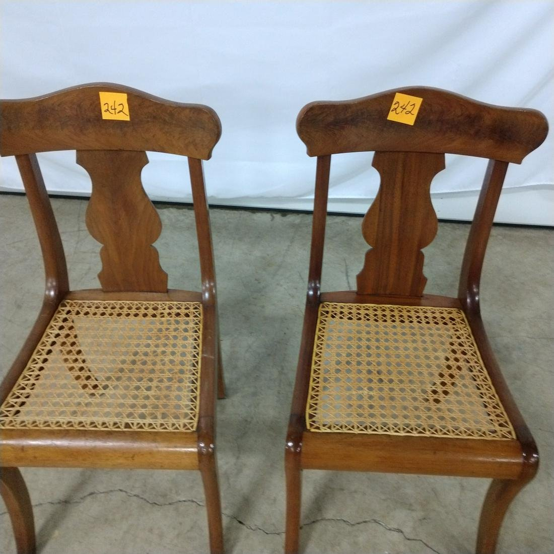 Furniture - Cane Bottom Chairs (2)