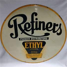 Advertising Petroliana - Refiners Porcelain Sign
