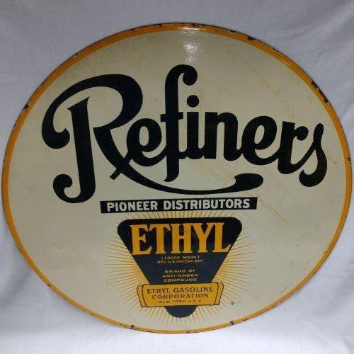 Advertising Petroliana - Refiners Porcelain Sign