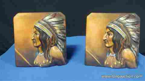 Nippon - Indian Head Book Ends -2