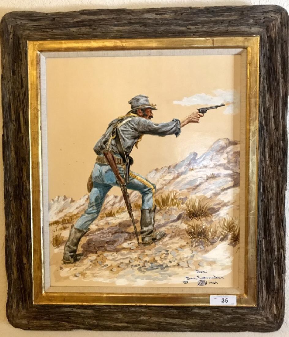 Joe Ruiz Grandee Original Oil On Board Painting