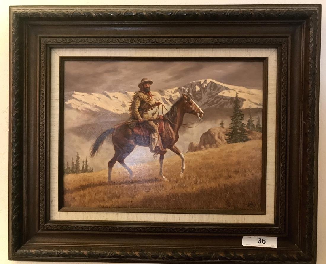 Original Joe Ruiz Grandee Oil On Board Painting