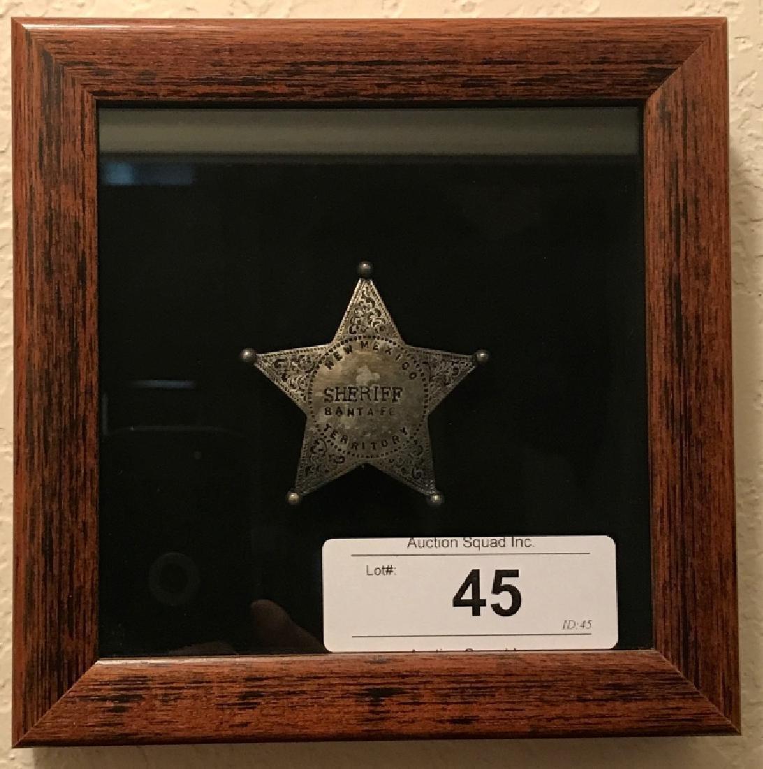 New Mexico Territory Santa Fe Sheriff Badge