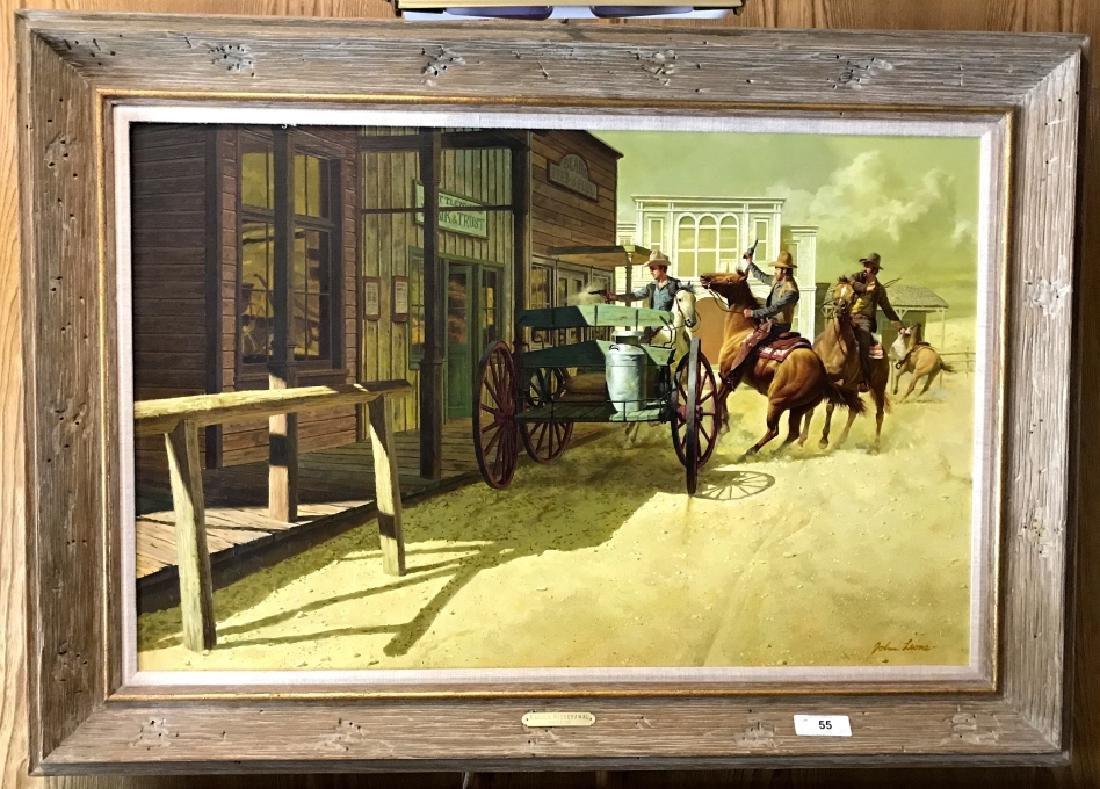 """ A Quick Withdraw"" John Leone Original Painting"