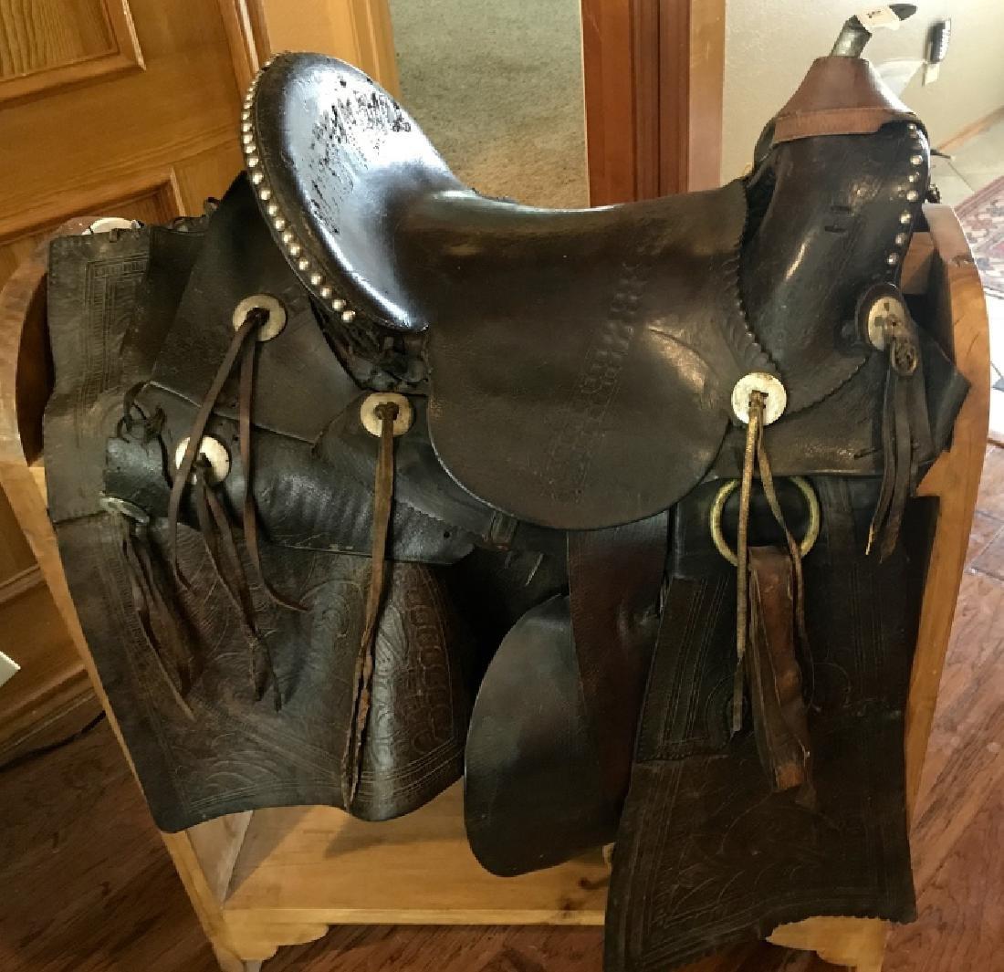 Original Buckskin Bill Western Saddle