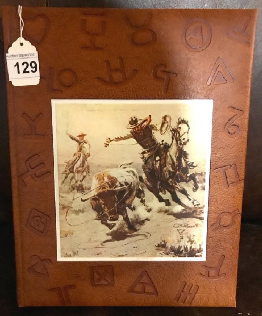 "Leather Bound "" Artists Of The Old West"" Book"