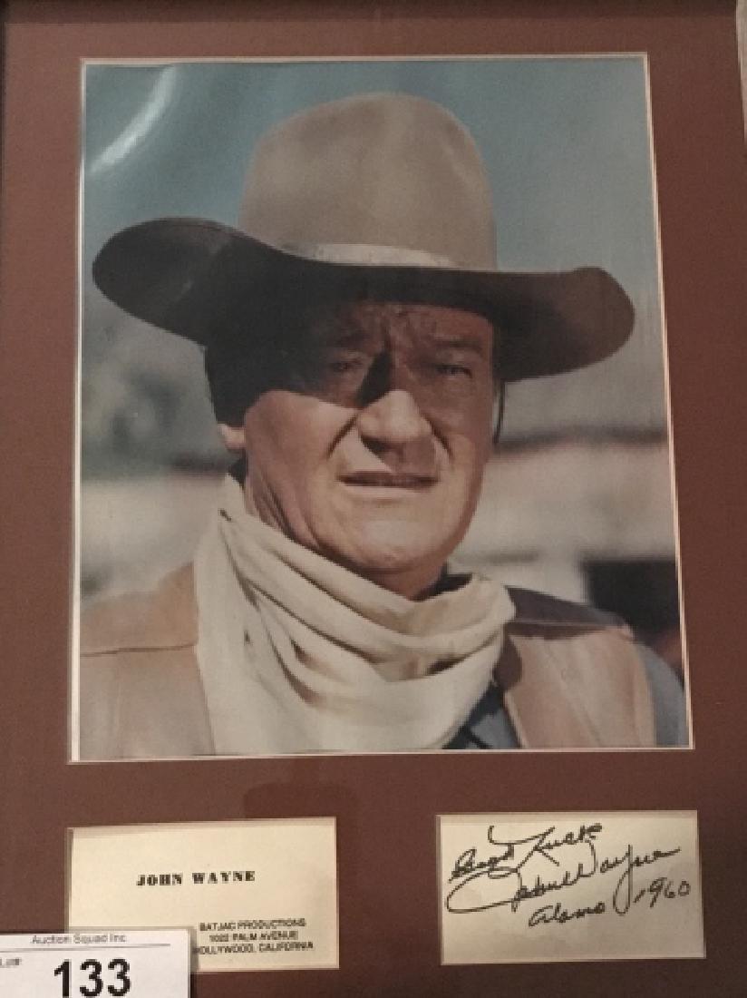 Framed John Wayne Photo With Original Signature