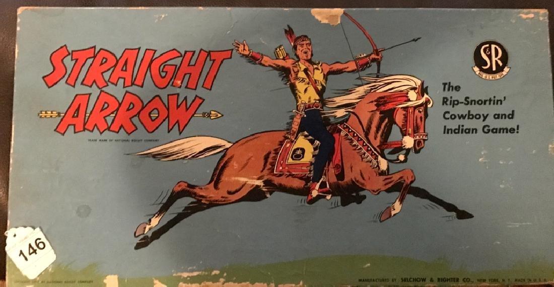 Vintage Straight Arrow Cowboy & Indian Board Game
