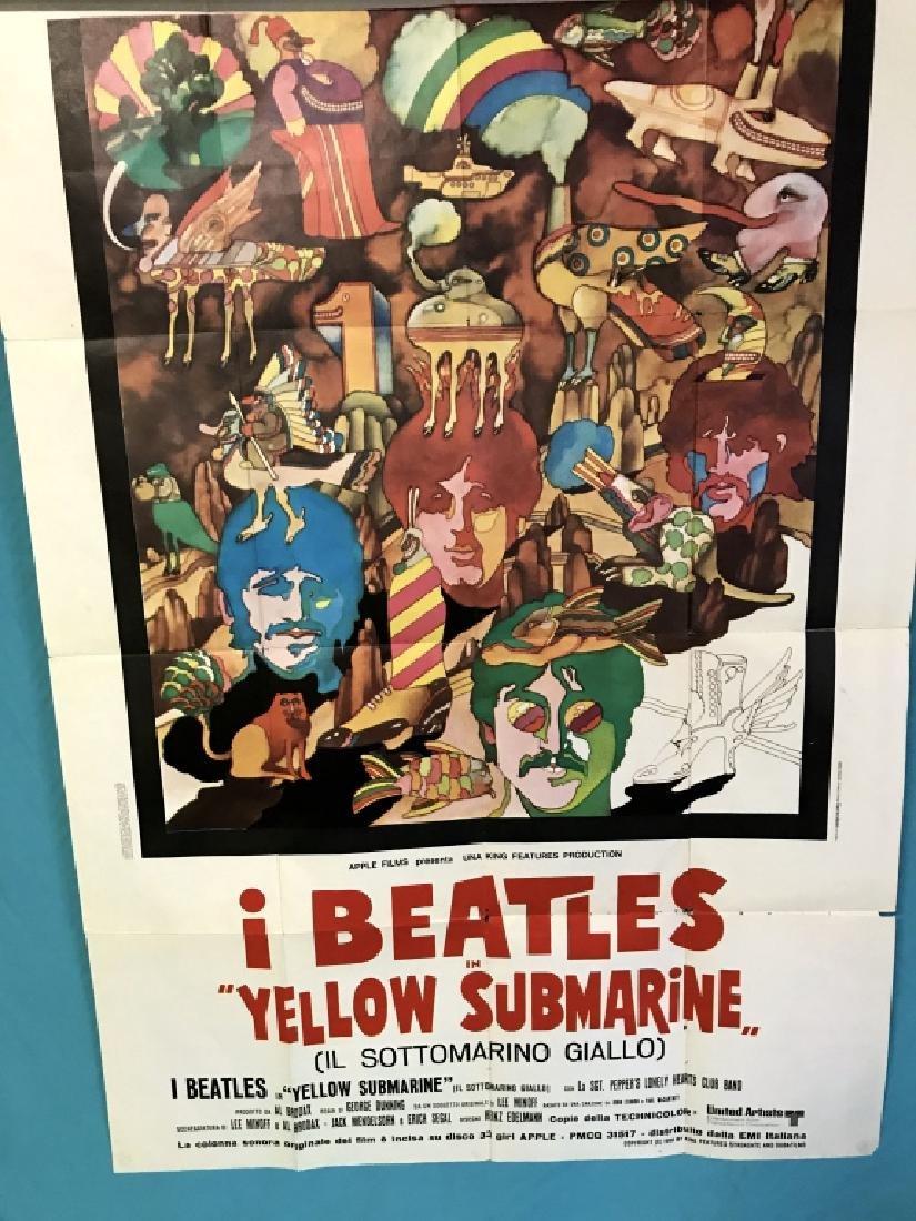Unframed Original Beatles Yellow Submarine Movie
