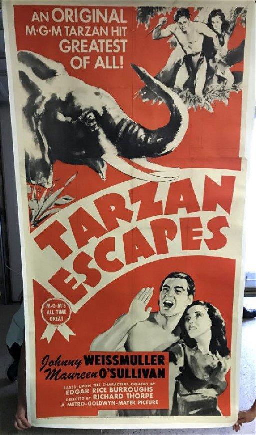 Unframed Original Tarzan Escapes Movie Poster