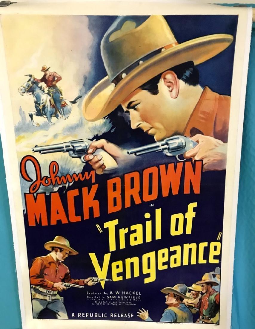 Unframed Original Trail Of Vengeance Movie Poster