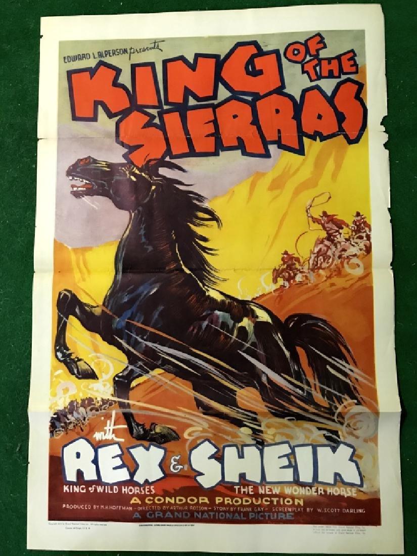 Unframed Original King Of The Sierras Movie