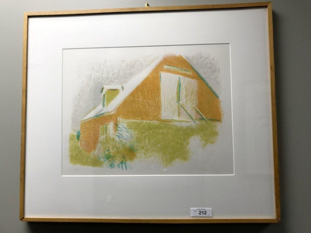 Framed Artist Proof Painting Signed W Kahn 82