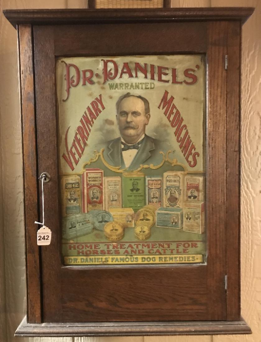 Original Oak General Store Display Cabinet