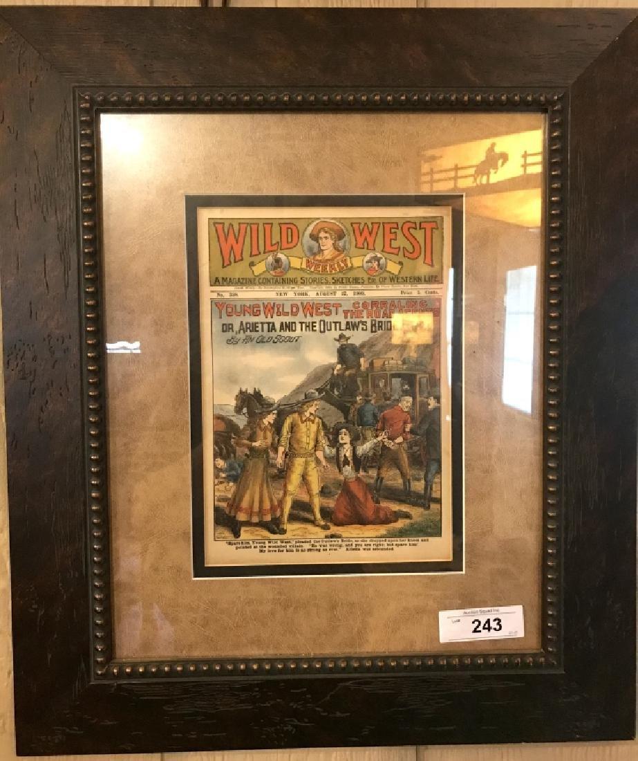 Original Framed Wild West Weekly Magazine