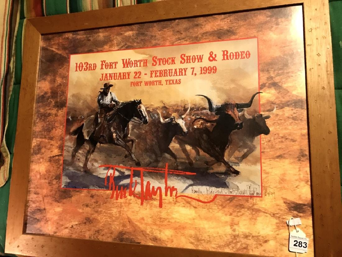 Framed Fort Worth Stock Show & Rodeo Picture