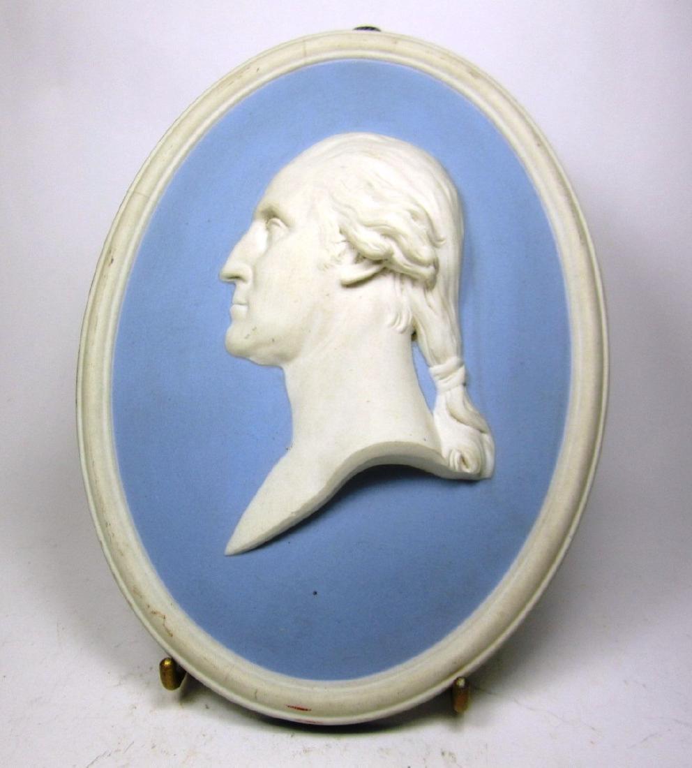 WEDGWOOD BLUE JASPER G. WASHINGTON PORTRAIT
