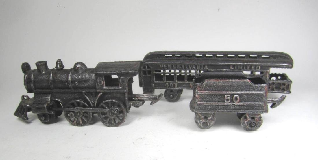 CAST IRON PENNSYLVANIA TRAIN CAR TOY