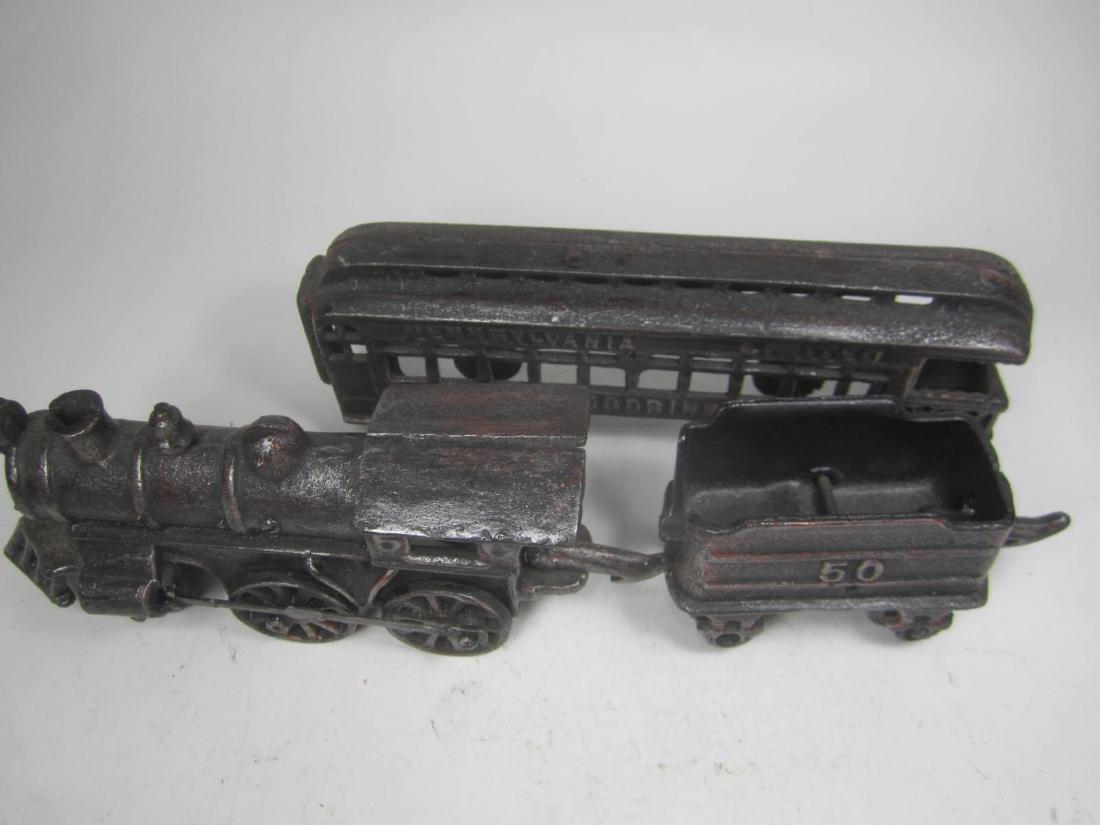 CAST IRON PENNSYLVANIA TRAIN CAR TOY - 9