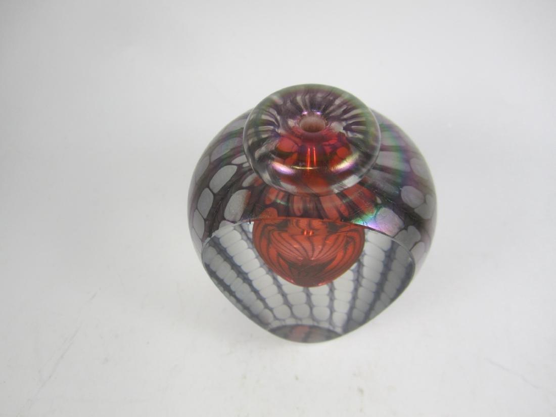 STUDIO ART GLASS PERFUME BOTTLE (SIGNED) - 4