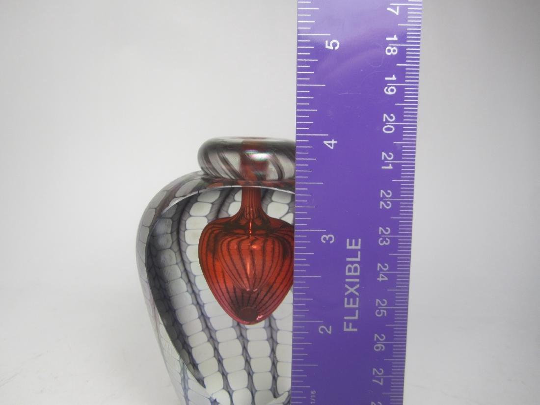 STUDIO ART GLASS PERFUME BOTTLE (SIGNED) - 5