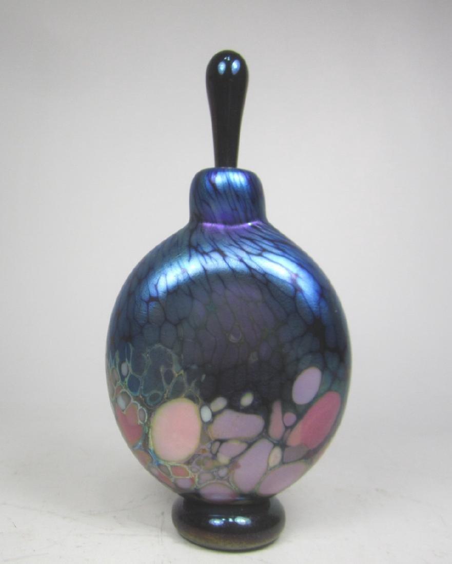 STUDIO ART GLASS CASED PERFUME BOTTLE (SIGNED)