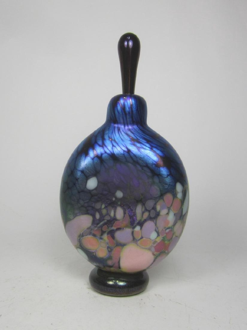 STUDIO ART GLASS CASED PERFUME BOTTLE (SIGNED) - 2