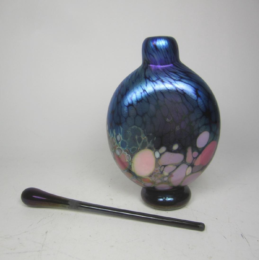 STUDIO ART GLASS CASED PERFUME BOTTLE (SIGNED) - 5