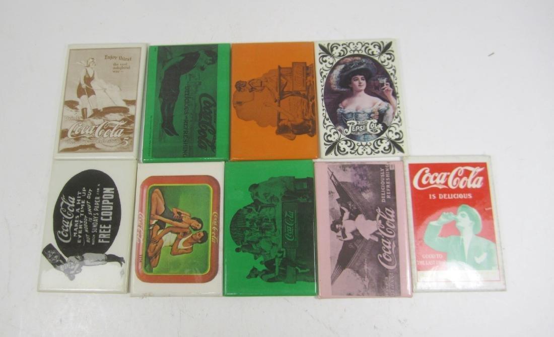 Nine Various Coco-Cola Collectible Mirrors
