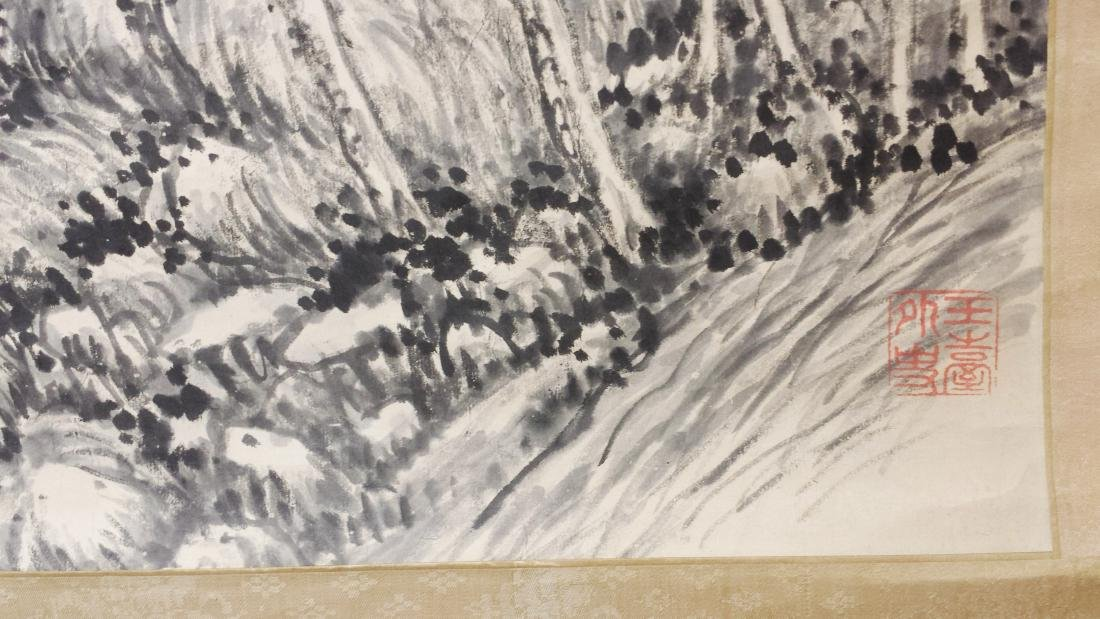 CHINESE INK PAINTING ON PAPER, SIGNED LU ZUN-SHU - 6