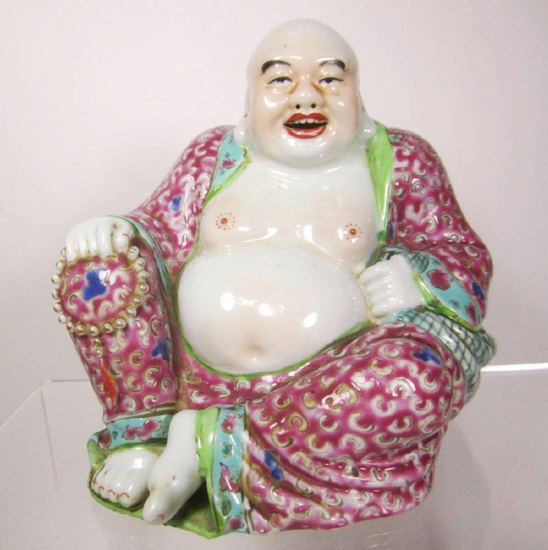 CHINENSE FAMILLE ROSE BUDDHA
