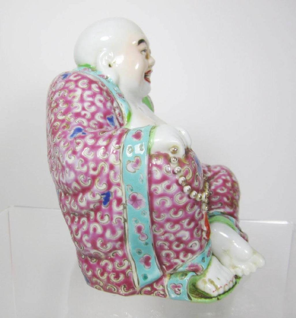 CHINENSE FAMILLE ROSE BUDDHA - 4