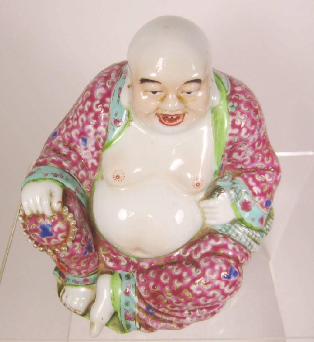 CHINENSE FAMILLE ROSE BUDDHA - 9