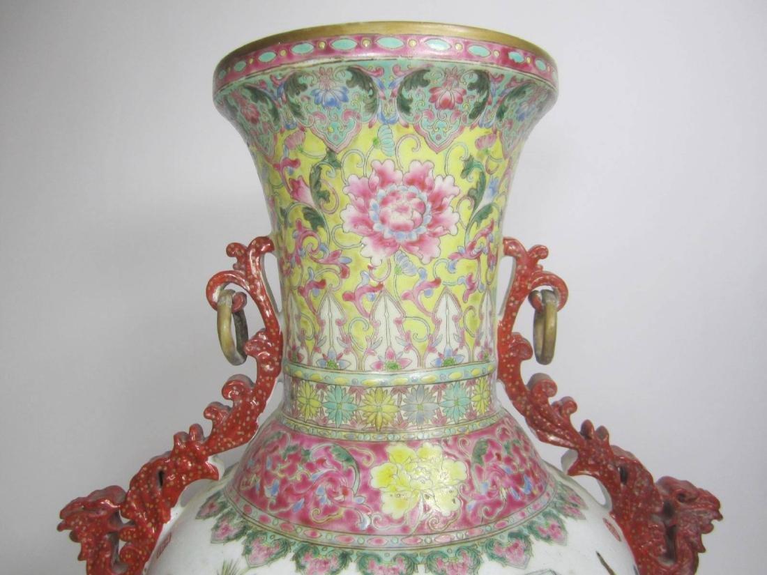 CHINESE FAMILLE ROSE PORECLAIN VASE - 3