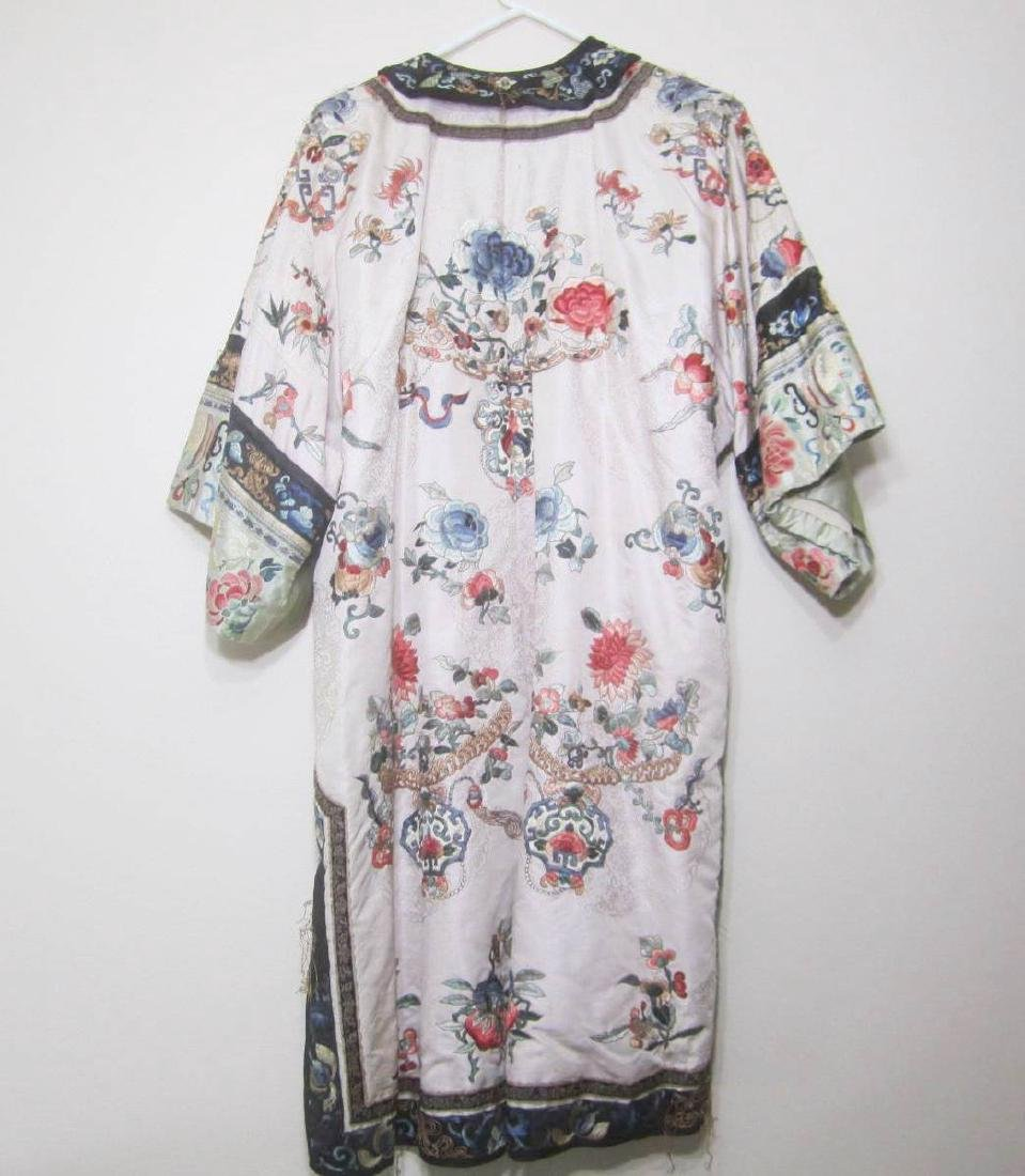 ANTIQUE CHINESE EMBROIDERY ROBE - 2