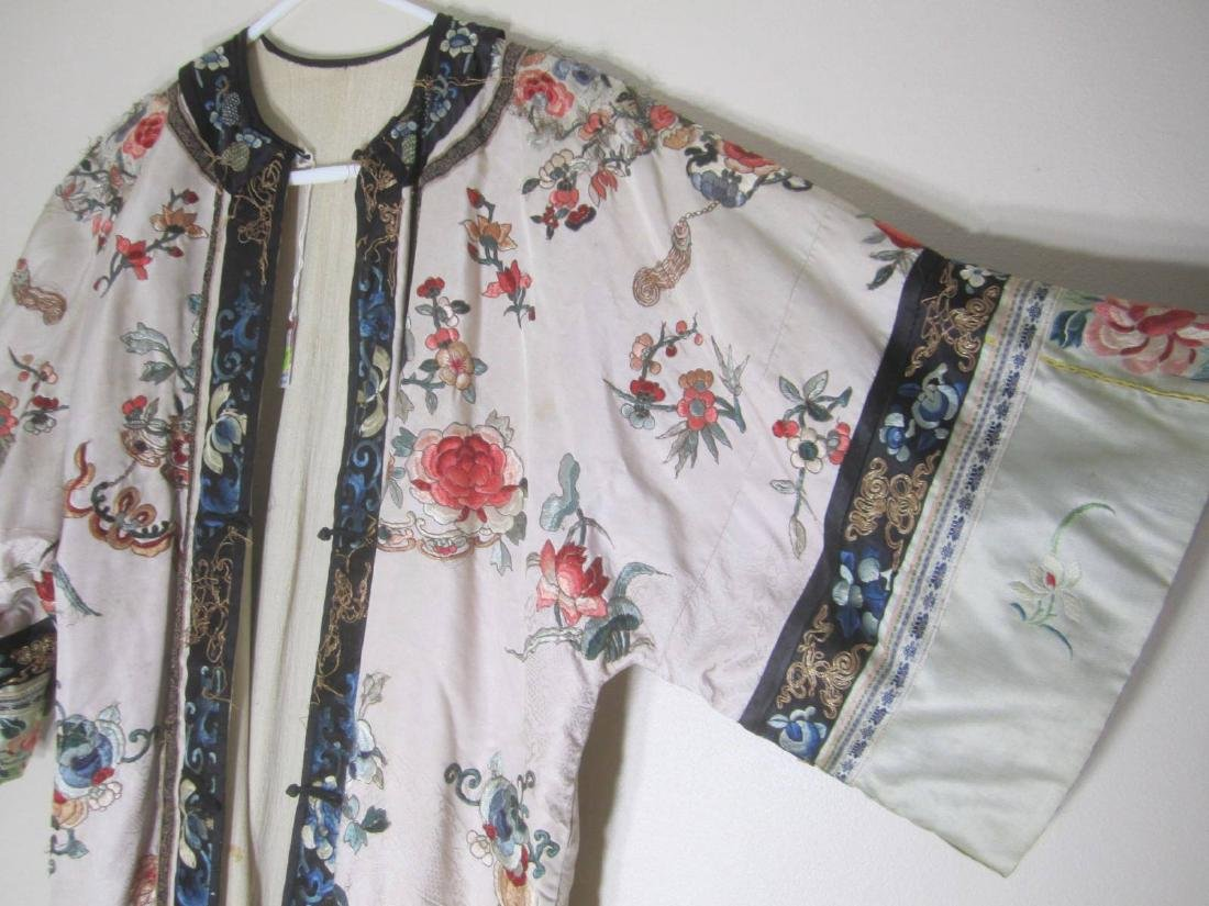 ANTIQUE CHINESE EMBROIDERY ROBE - 5