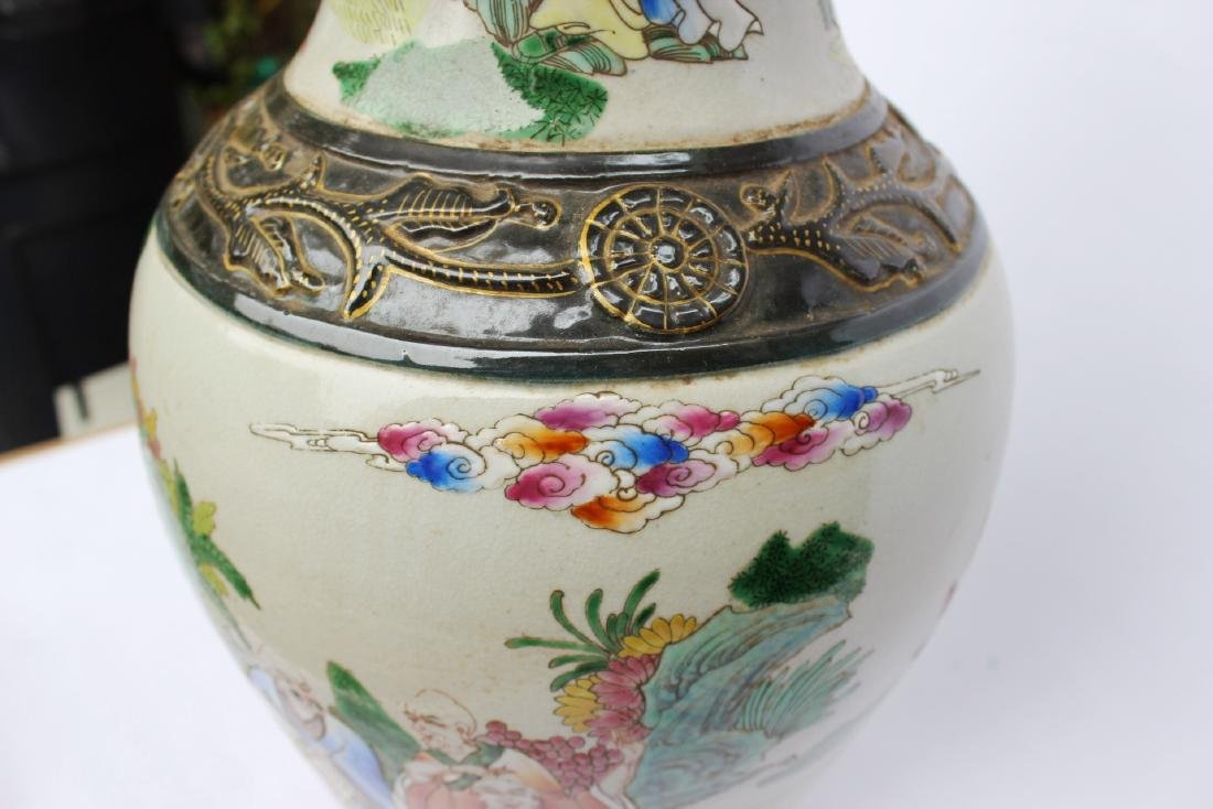 A LARGE CHINESE FAMILLE ROSE VASE - 10